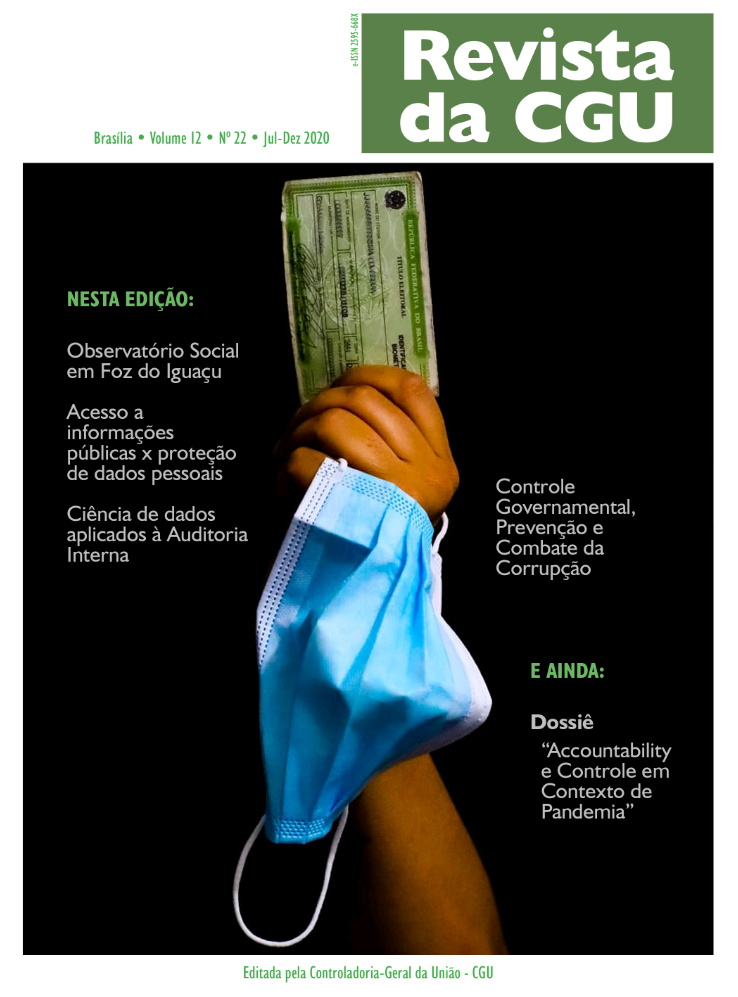 Visualizar v. 12 n. 22 (2020): Revista da CGU, 22, jul-dez/2020